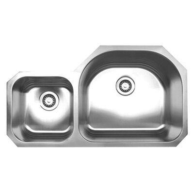"Whitehaus Collection Noah's Chefhaus 37"" Double Bowl Undermount Kitchen Sink"