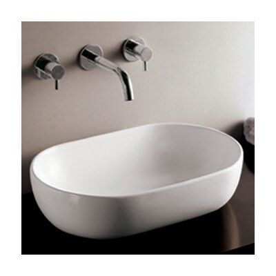 Isabella Oval Bathroom Sink with Offset Center Drain - WHKN1080
