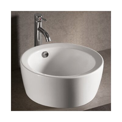 Isabella Round Bathroom Sink with Overflow and Center Drain - WHKN1055