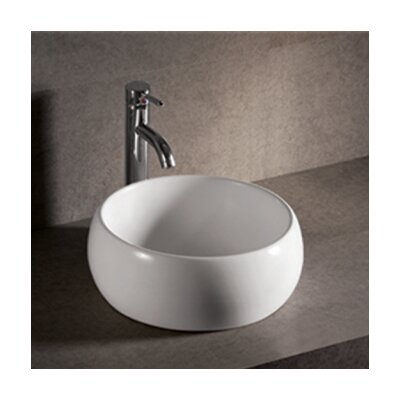 Isabella Round Bathroom Sink with Center Drain - WHKN1082