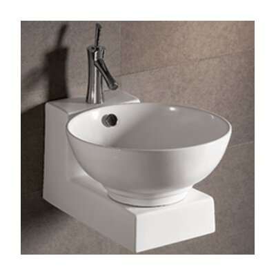 Isabella Round Bathroom Sink with Overflow and Center Drain - WHKN1051-1060