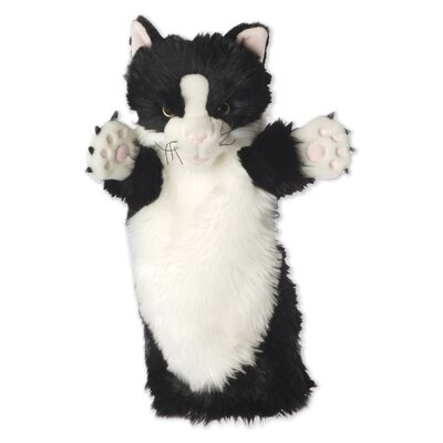 The Puppet Company Long-Sleeved Cat Glove Puppet in Black and White