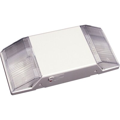 Deco Lighting Fixed Optics Emergency Lighting Unit with White Housing