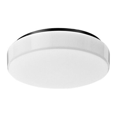 Deco Lighting Round Decorative Circline One Light Flush Mount in Baked White Enamel