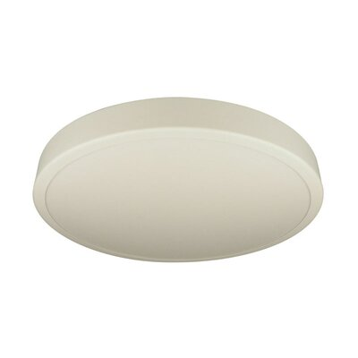 Deco Lighting Ronde Series Three Light Flush Mount with White Acrylic Diffuser in Matte White