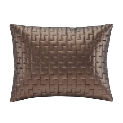 Quilted Metallic Faux Leather Oblong Pillow