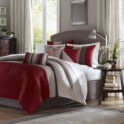 Madison Park Tradewinds 7 Piece Comforter Set in Red