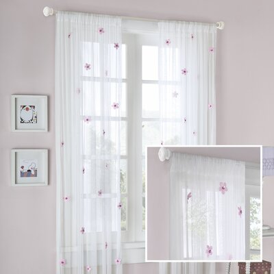 Madison Park Lily Allover Rod Pocket Sheer Flower Curtain Single Panel