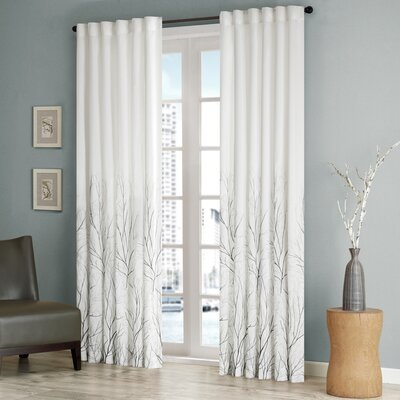 Madison Park Andora Rod Pocket Curtain Single Panel