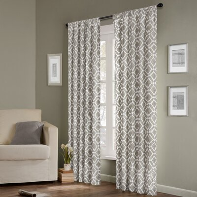 Madison Park Delray Diamond Rod Pocket Curtain Single Panel