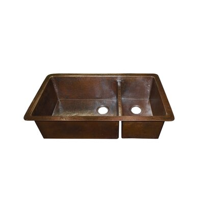 Native Trails, Inc. Cocina Duet Pro Hand Hammered Copper Kitchen Sink