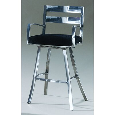 Johnston Casuals Director Contemporary Swivel Barstool with Arms