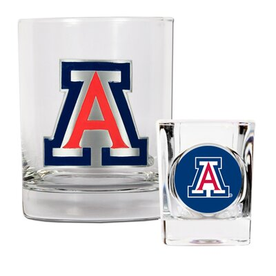 Great American Products NCAA Rocks Glass and Shot Glass Set