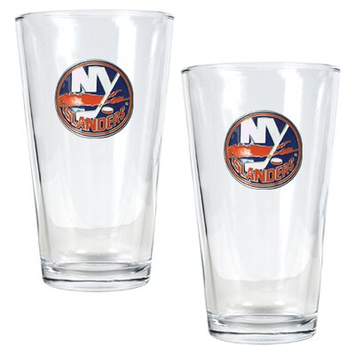 Great American Products NHL Pint Ale Glass 2 Piece Set - Primary Logo