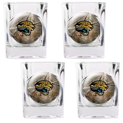 Great American Products NFL Open Field 4 Piece Square Shot Glass Set