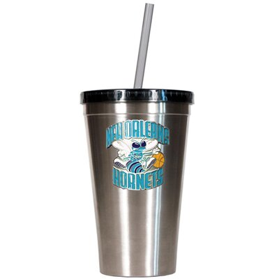 Great American Products NBA 16oz Stainless Steel Insulated Tumbler with Straw