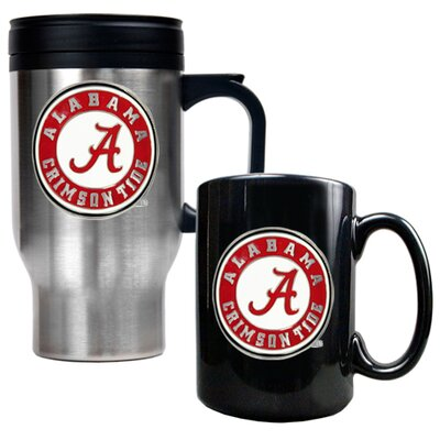 Great American Products NCAA Travel Mug and Ceramic Mug (Set of 2)