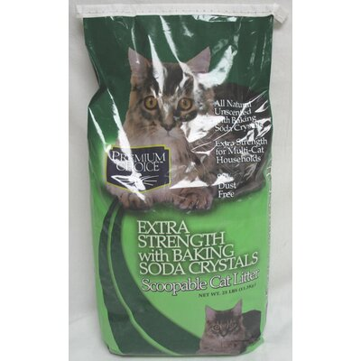 Premium Choice Extra Strength Cat Litter with Baking Soda Crystals