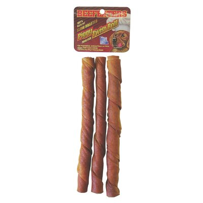 Beefeaters Piggy Roll Twist Rawhide Dog Treat