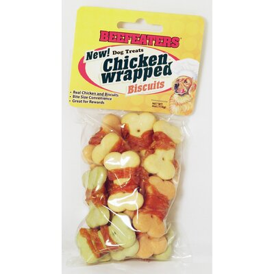 Chicken Wrapped Biscuits Rawhide Dog Treat