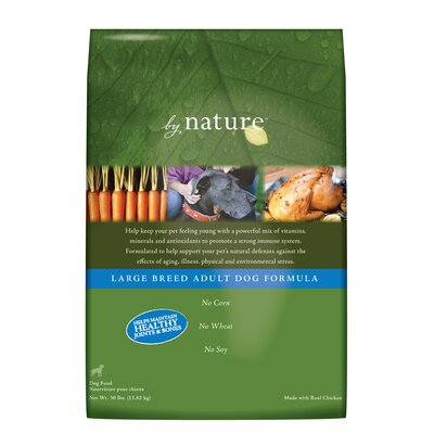 By Nature Large Breed Adult Formula Dry Dog Food (30-lb Bag)