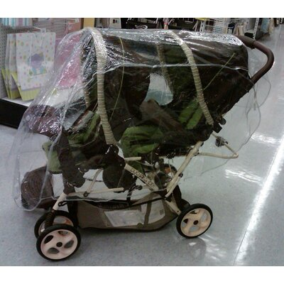Sasha's Kiddie Products Tandem (Front and Back) Stroller Rain and Wind Cover