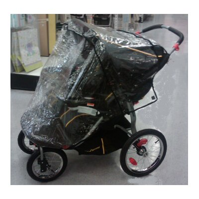Sasha's Kiddie Products Baby Trend Front Swivel Wheel Double Navigator Stroller Rain and Wind Cover