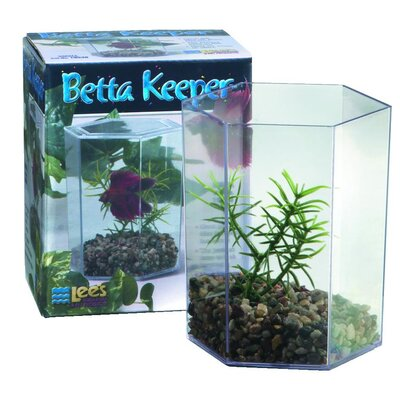 Lees Aquarium & Pet Large Aquarium Betta Keeper with Lid