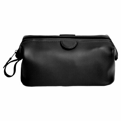 <strong>Royce Leather</strong> Genuine Leather Deluxe Toiletry Bag