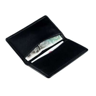 Royce Leather International Card Holder in Black
