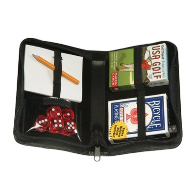 Royce Leather Zip Around USA Golf Card Case