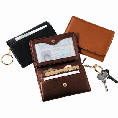 Royce Leather Wallet with Removable Key Ring