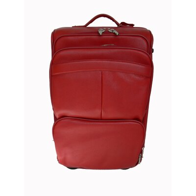 "Royce Leather Deluxe 23"" Weekender Suitcase"