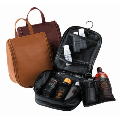 Royce Leather Toiletry Bag with Removable Pouch