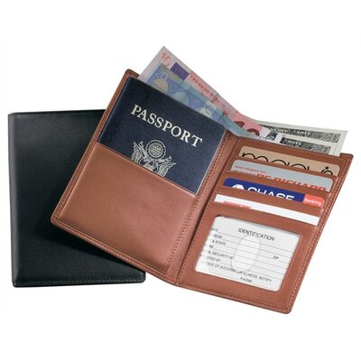 Royce Leather Passport Currency Wallet