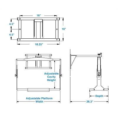 Lucasey Double Stud Adjustable Yoke Heavy-Duty Wall Mount
