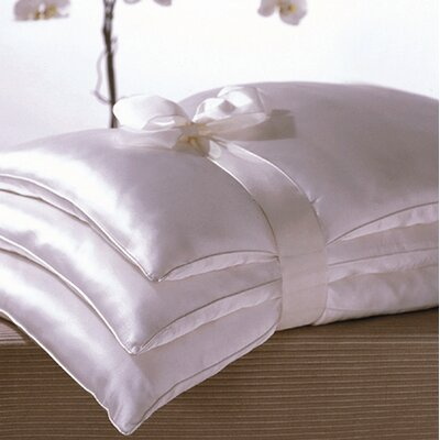 kumi kookoon Basics Double Silk-Filled Pillow in White