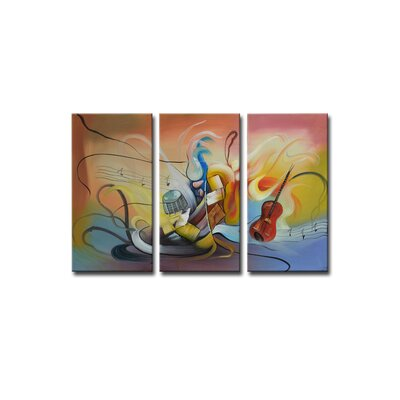 Segma Inc. Radiance Neva Canvas Art (Set of 3)