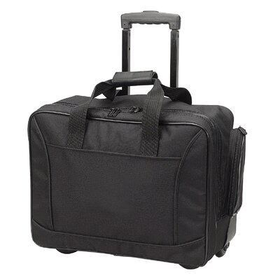 Travelwell Scan Express Wheeled Computer Briefcase in Black