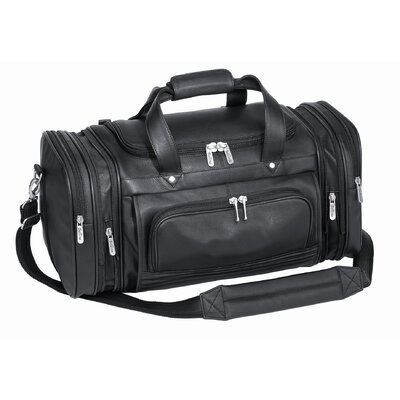 "Goodhope Bags Bellino 20"" Leather Expandable Carry-On Duffel"
