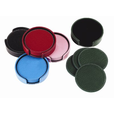 Preferred Nation Leather Coaster Set
