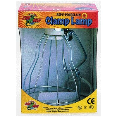 Zoo Med Wire Cage Porcelain Clamp Heat Lamp for Reptiles