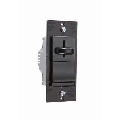 Legrand TradeMaster 600W Decorator Single Pole Slide Dimmer Preset in Brown