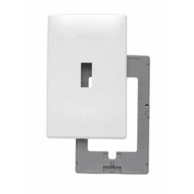 Legrand Single Gang Toggle Opening Screwless Wall Plate in White