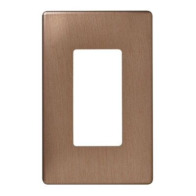 Legrand Single Gang Decorator Screwless Wall Plate in Brushed bronze