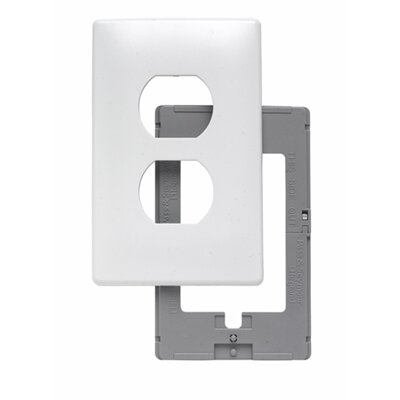Legrand Single Gang Outlet Opening Screwless Wall Plate in White