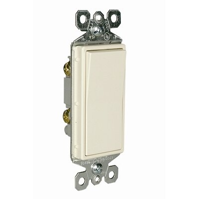 Legrand TradeMaster 15A120V Decorator Switch Single Pole in Light Almond