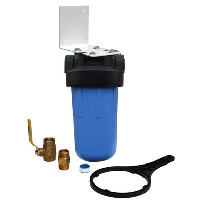 Whole House Full Flow Water Filter with Ball Valve
