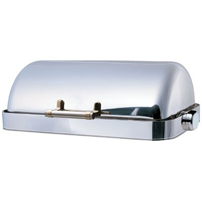 "SMART Buffet Ware ""Save on Additional Items""-Odin Oblong Roll Top Stainless Steel Drop-In Chafing Dish with Heater"