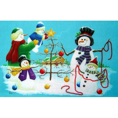 Seasonal Holiday Snowmen Doormat